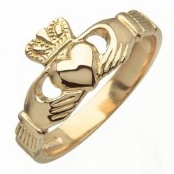 Gold Claddagh Ring - Blarney - 10K Gold-500x500